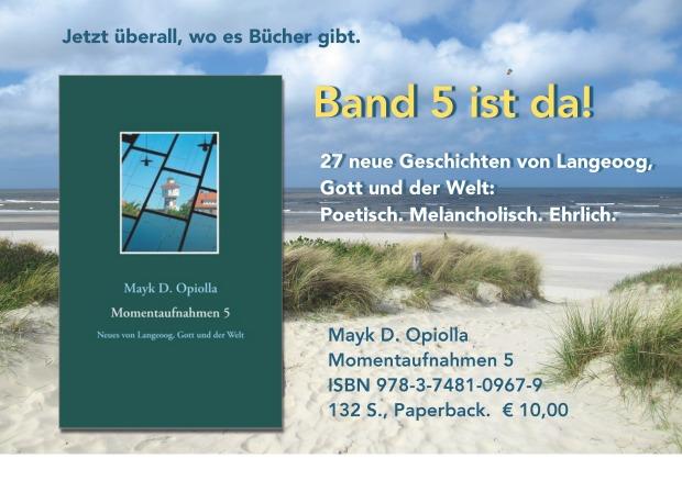 Anzeige Band 5 Motiv Meer